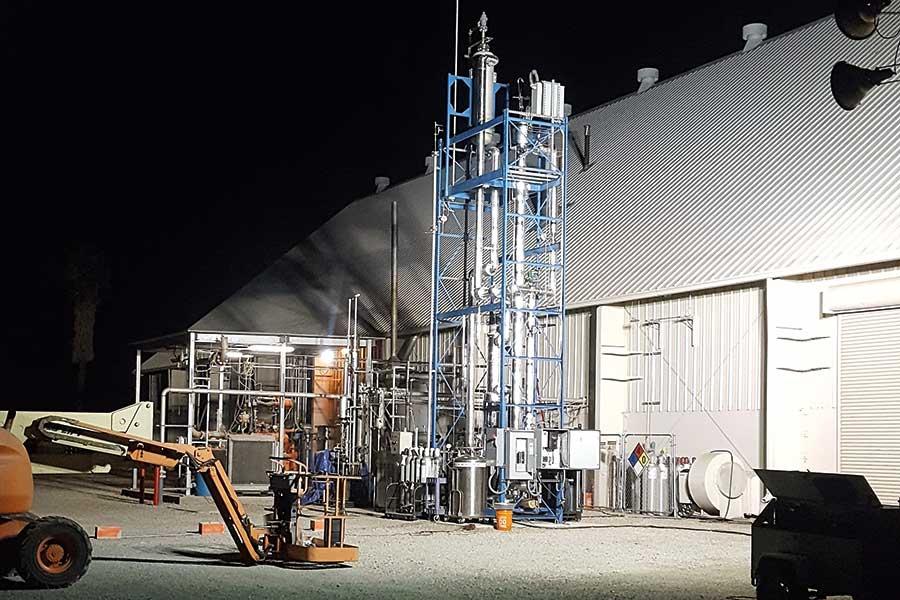 """Pilotanlage """"Gemischte Alkohol Synthese"""" in Güssing (Bioenergy 2020+) - Foto: Matt Hoffman, West Biofuels"""