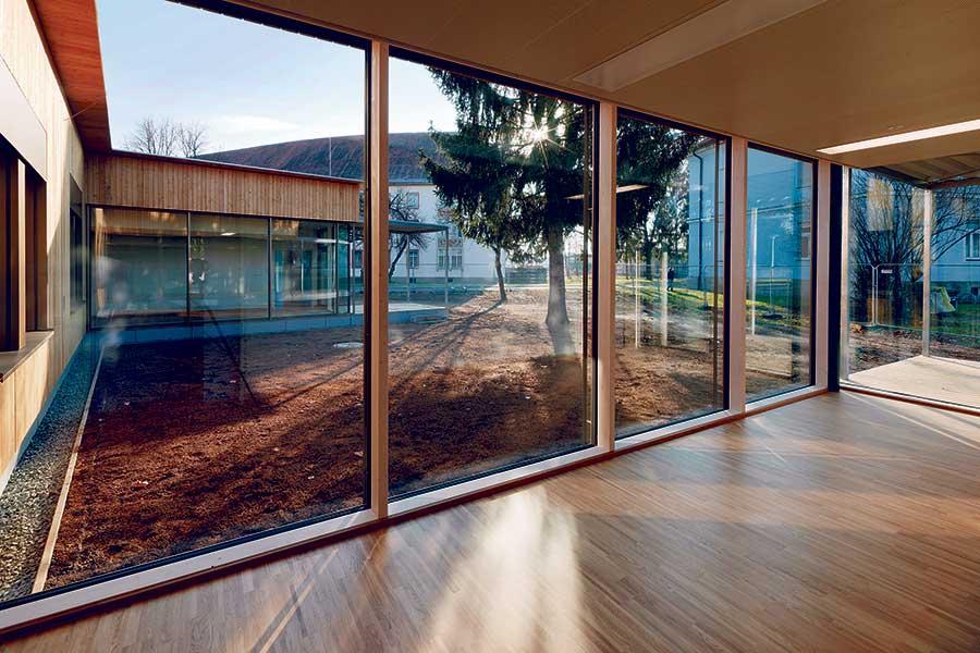 Holz-Pavillon in steirischem Krankenhaus | UmweltJournal (c) Paul Ott