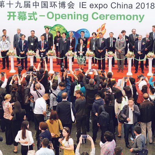 Die zahlreichen Umwelttechnik-Initiativen von Seiten der chinesischen Regierung unterstützen den Aufschwung der IFAT-Messen. | (c) Messe München