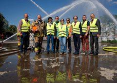 Erfolgreiche Übung der Grazer Feuerwehren bei Saubermacher
