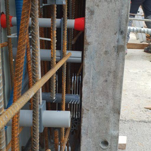 Hochauflösende Sensorsysteme der ETH Zürich liefern Daten zur Entwicklung des pH-Wertes, der Chloridkonzentration und der Feuchte im Beton, bei dem erstmals der klimaschonende Zement von Holcim eingesetzt wird.