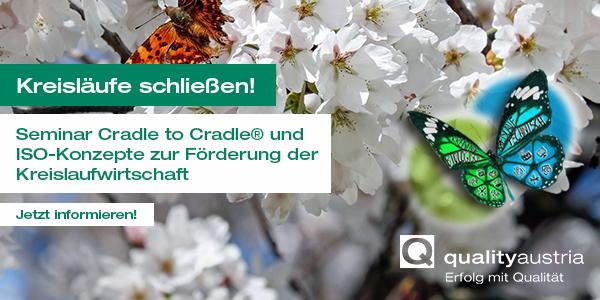 Anzeige Quality Austria Kreislaufwirtschaft