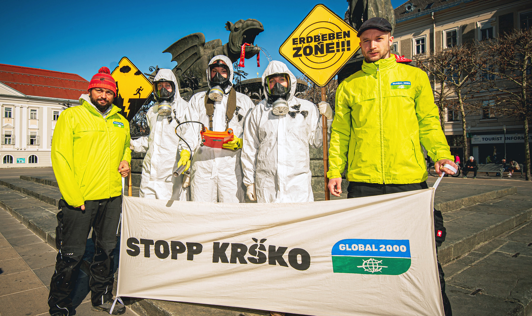 Foto: Aktion Stopp AKW Krsko (c) GLOBAL 2000 - Christopher Glanzl