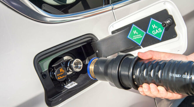 Foto: BMW-Wasserstoff-Tankstutzen