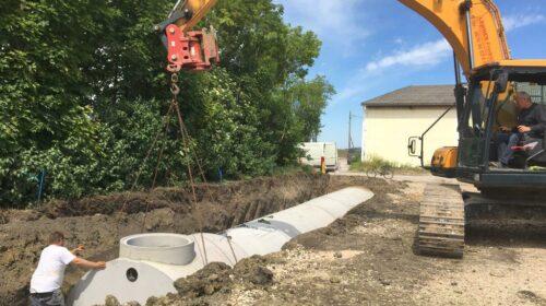 Stabil und kostengünstig: Regenwasser versickert ab jetzt im Tunnel