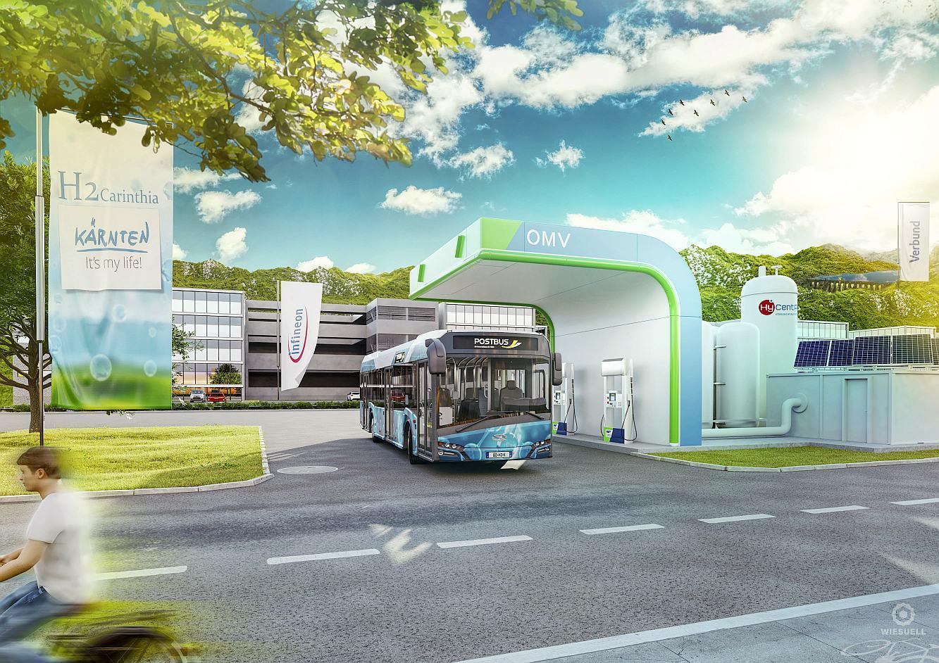Foto: Projekt Wasserstoff-Bus H2Carinthia - Foto: Büro LR Schuschnig/Wolfgang Jannach