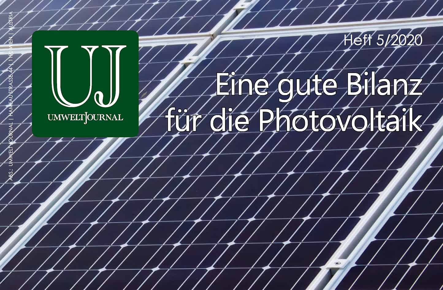 Foto: UMWELT JOURNAL 5-2020, Cover