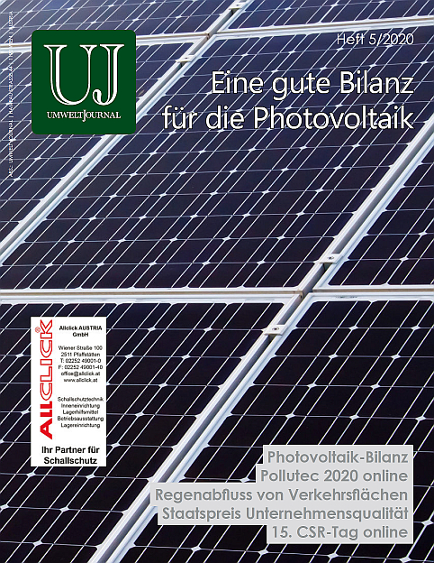 Foto: UMWELT JOURNAL Nr. 5/2020, Cover