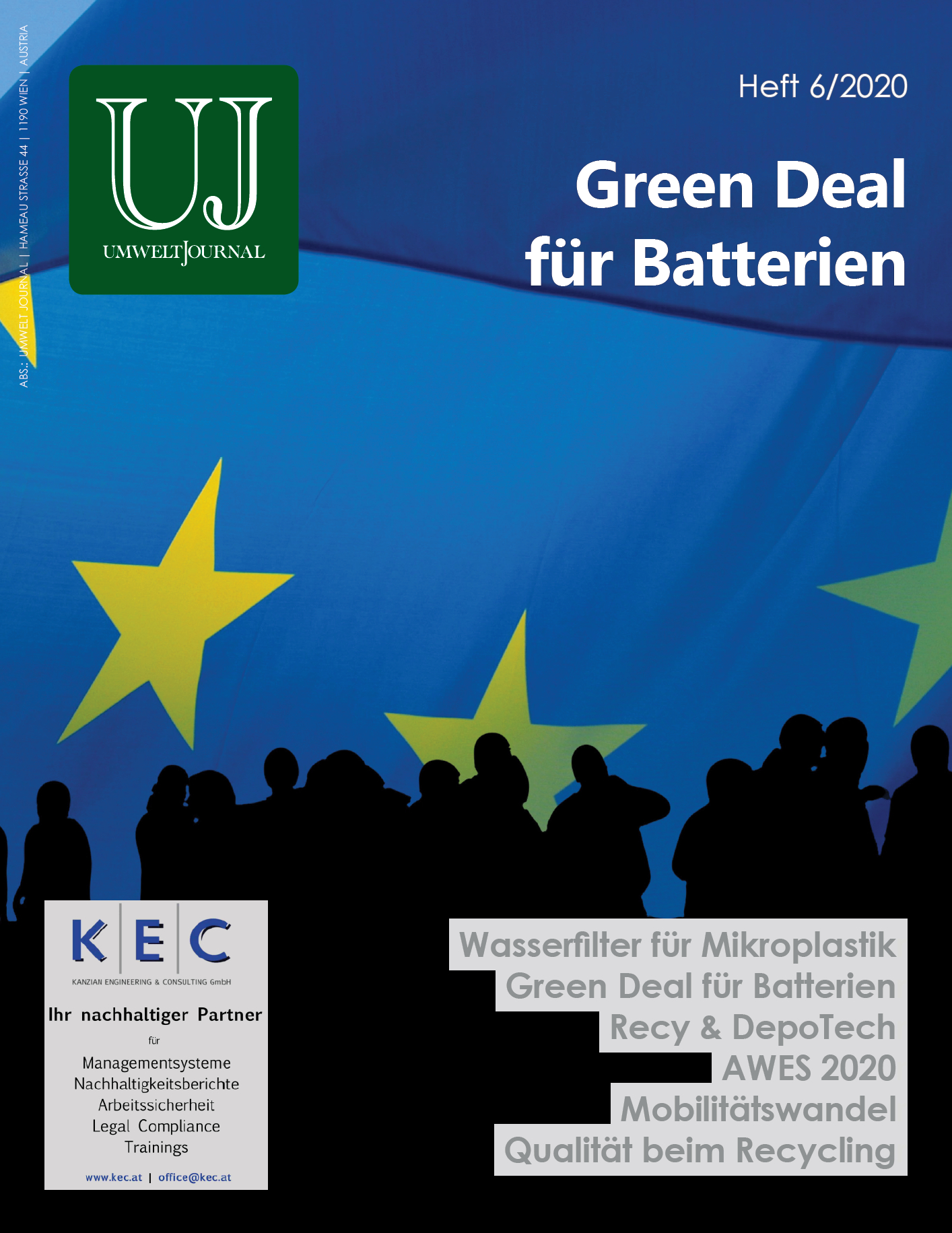 Foto: UMWELT JOURNAL Nr. 6/2020, Cover