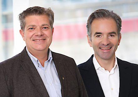 BILD zu OTS - Andreas Rotter und Martin Hagleitner plŠdieren als  ObmŠnner des Zukunftsforum SHL fŸr eine enge Zusammenarbeit von Politik und Experten.