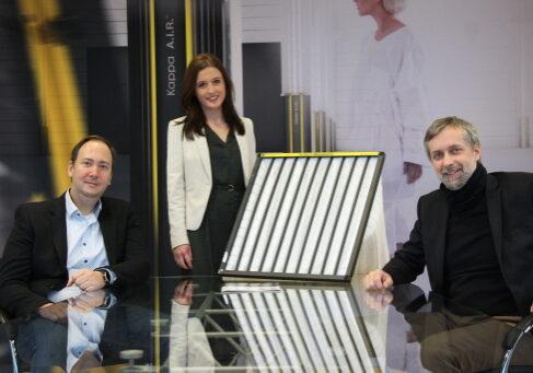 Foto: von links nach rechts: Christian Helth, Christina Schickmair, Maximilian Hauer von Kappa - Wavebionix
