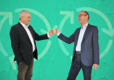 Bild (v.l.n.r.): Konrad Scheiber (CEO, Quality Austria), Felix Müller (CEO, SQS) ©pexels.com/FWStudio/Quality Austria/SQS